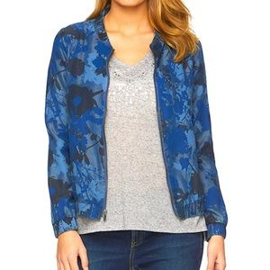 Juicy Couture Floral Bomber Jacket Size XL